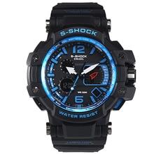 SMAEL Watches Fantastic Luminous Sport watch men High Quality 50M Waterproof Dual Display Wristwatches Alarm clock 1509