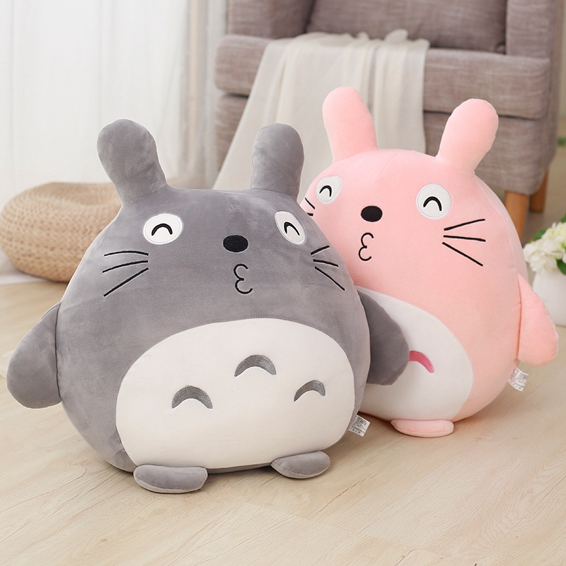 1pc 40cm Soft Anime My Neighbor Totoro Plush Toy Stuffed Cartoon Totoro Pillow Cushion Cute Doll for Kids Baby Christmas Gift 1pc 65cm cartion cute u shape pillow kawaii cat panda soft cushion home decoration kids birthday christmas gift