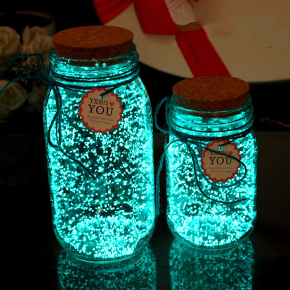 10g Colorful Luminous Glowing Gravel DIY Party Bright Paint Star Wishing Bottle Fluorescent Particles Noctilucent Sand Toys luminous glow sand super bright noctilucent sand diy wishing sand 50g lot glow in the dark for wishing glass bottle