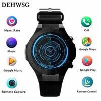 DEHWSG H2 smart watch Android 5,1 MTK6580 Встроенная память 16 г Оперативная память 1 г наручные часы мужские Поддержка Wi Fi gps 5 м Камера сердечного ритма Носимых