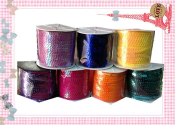 ( 6MM/w 100Yards/pc ) PVC Spangle Sequins Paillette String Line Cord Rope Jewelry Findings