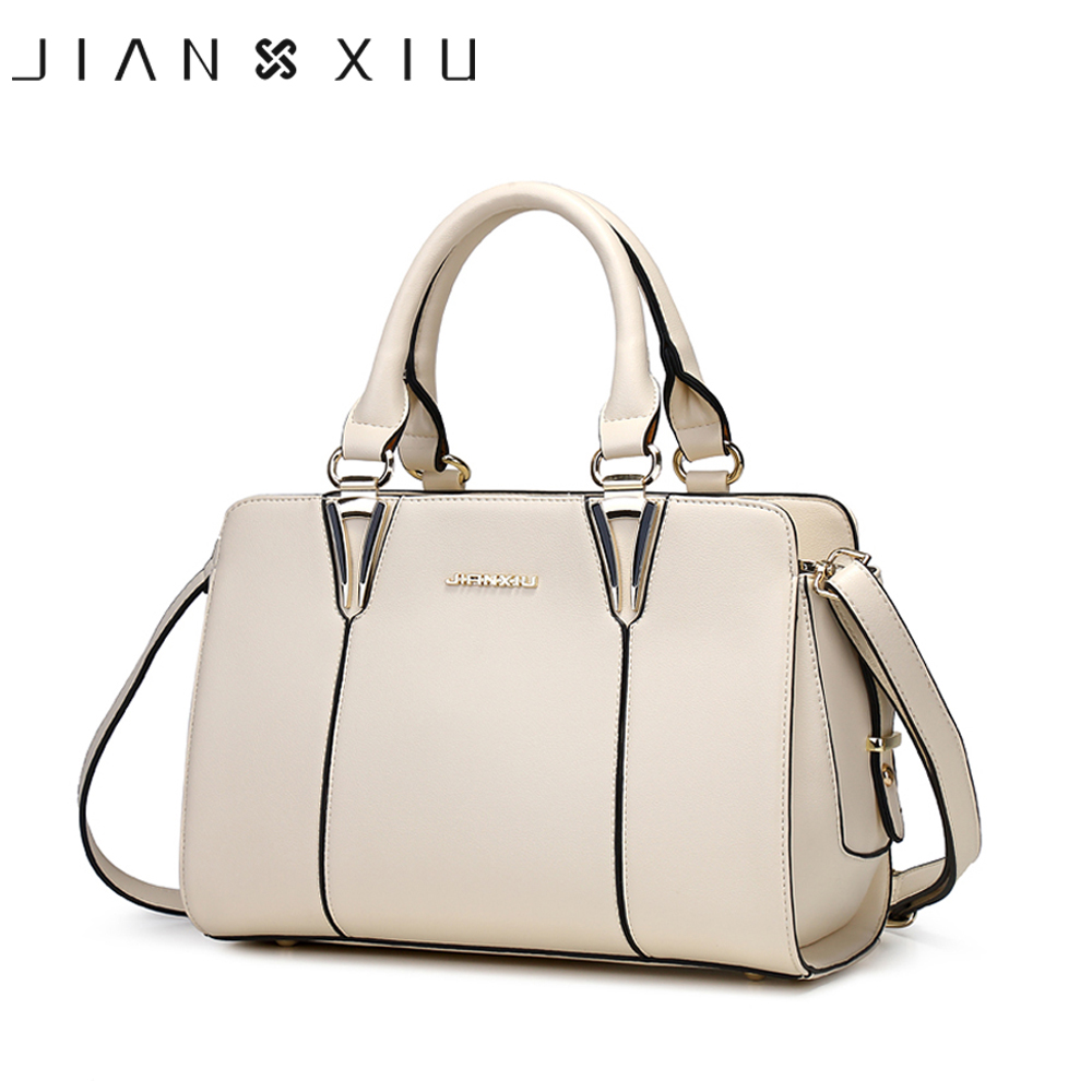 JIANXIU Famous Women Pu Leather Luxury Handbags Women Bags Designer Fashion Handbag Shoulder Messenger Bag Big Tote Sac a Main luxury handbags women bags designer brand famous scrub ladies shoulder bag velvet bag female 2017 sac a main tote