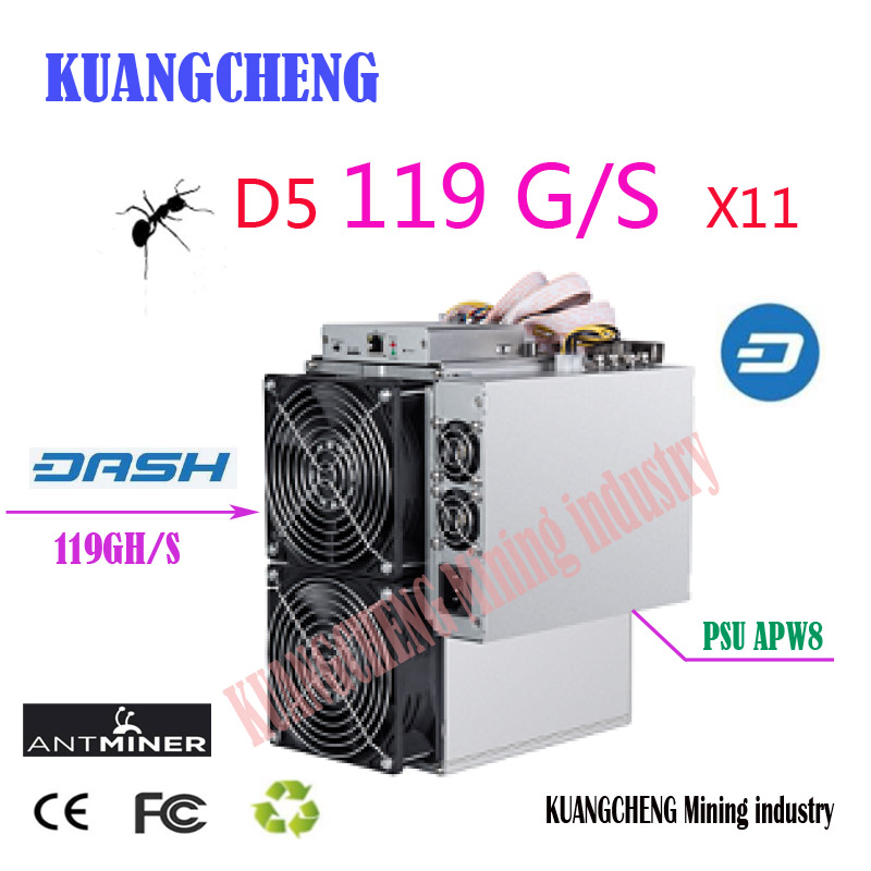Asic Dash  Antminer D5 119G Dash Miner X11 Dash Coin Mining Bitmain D5 Better Than D3 S9 Z9 Mini Baikal BK-X X10 BK-G28