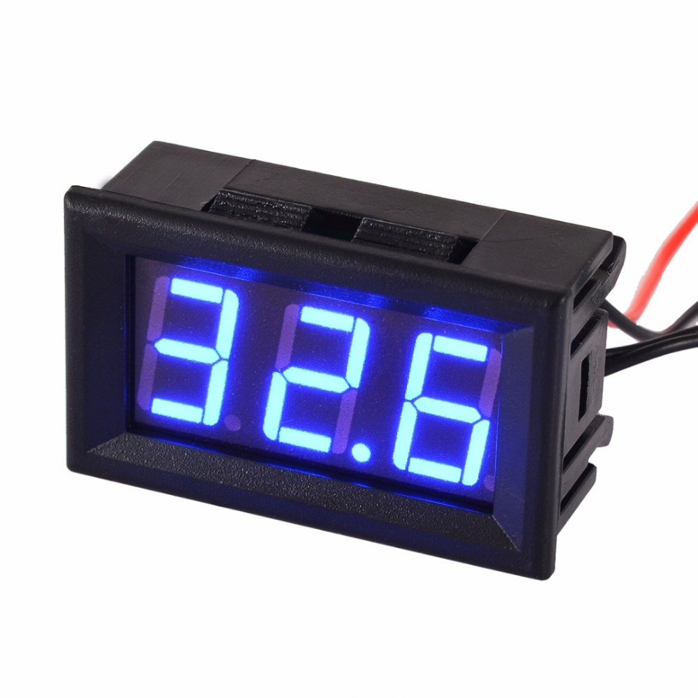 1pc DC 12V LED Digital Thermometer Temperature Sensor Detector Tester 50 110 Degree Mayitr New Arrival in Temperature Instruments from Tools