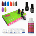 299 Colors 7ml Clou Beaute (8 Colors+Base Top+Cleanser+50 Pieces Remover) UV Led Nail Gel Nail Lacquer Soak Off Nail Polish