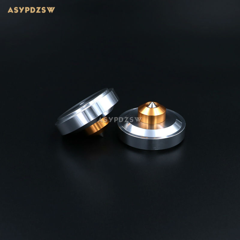 цена на 4PCS 44*26 Aluminum Silver sound machine feet Power amp spikes Speaker shock pads damping spikes