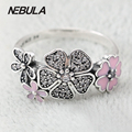 Wholesale SOLID 925 sterling Silver Silver Shimmering Bouquet Ring Compatible with Brand Jewelry Original