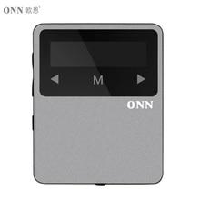 ONN X1 Mini Clip Sport MP3 Player Portable Music 8GB FM Radio Pedometer Multi-funcation 3.5mm Audio Port Bluetooh HiFi Player