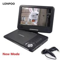 New 9 Inch TFT Screen Display Portable DVD EVD Player USB Slot Earphone TV VCD CD