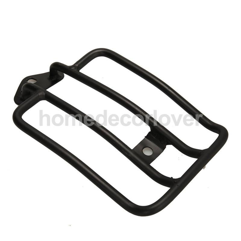 Motorcycle Black Luggage Rack Shelf Tail Frame Carrier for Harley Solo Seat free shipping chrome rear fender solo seat luggage carrier rack for 85 03 harley sportster xl883 1200