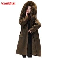 2019 зимнее модное женское новое пальто с длинным рукавом средней длины высокое качество шерстяной Тренч свободный супер теплый шерстяной Тр