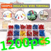 1200Pcs Electrical Wire Terminal Crimp Port Connector Set Assorted Insulated Cord Pin End Terminal Connector With Storage Box