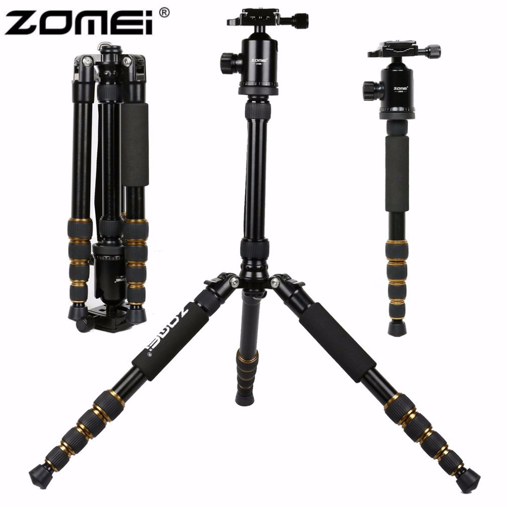 New Zomei Z699 Aluminum Professional Tripod Monopod + Ball Head For DSLR Camera / Portable SLR Camera stand / Better than Z688 цена