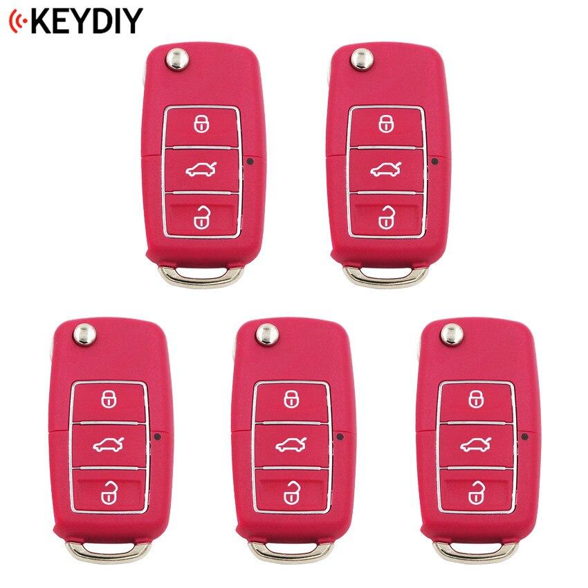 5 PCS LOT Original KEYDIY 3 Buttons B01 3 Luxury Universal Remote Control Key B Series