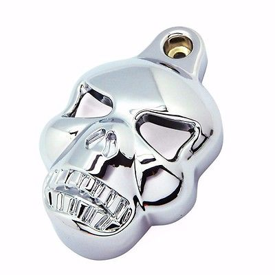 Skull Horn Cover Stock Cowbell For Harley Evo 1992 2012 Bobber Chopper Cruiser Motorcycle Accessories Parts Chrome