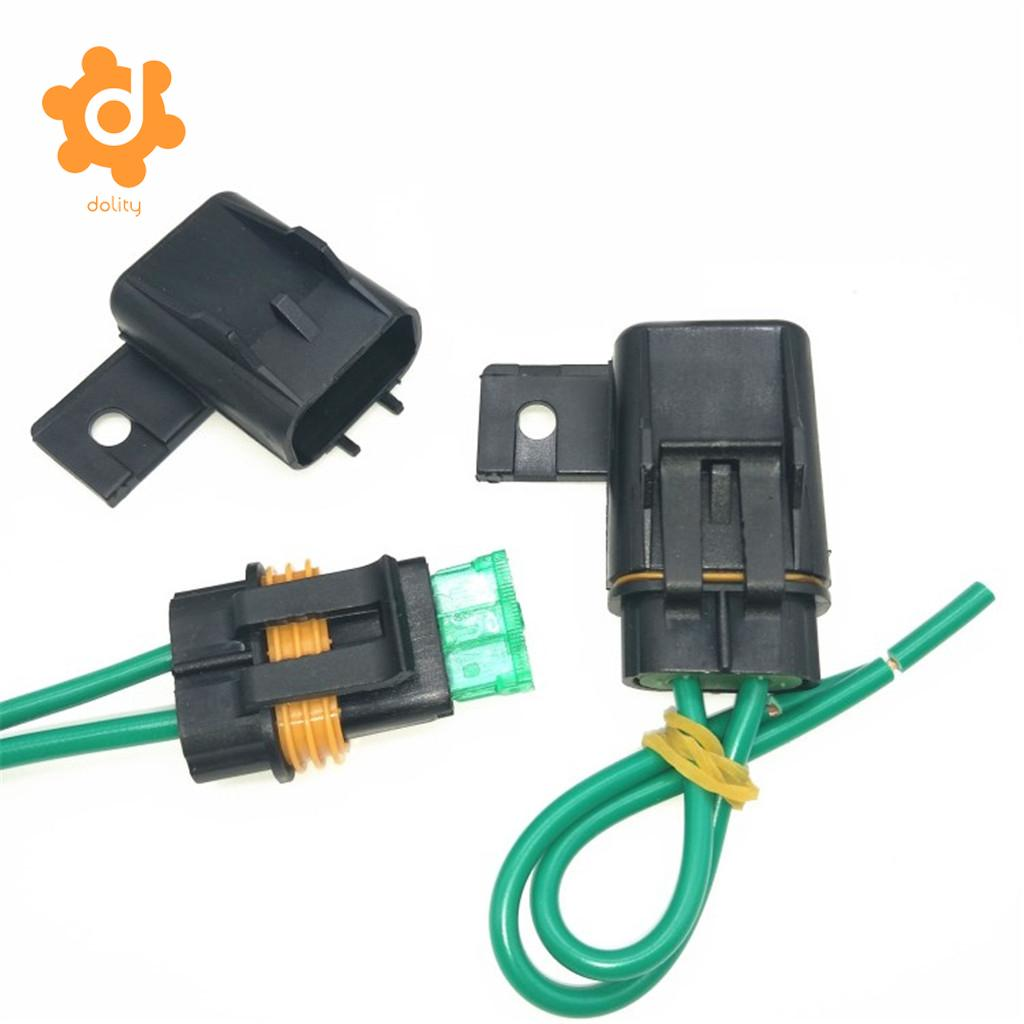 1 Set Car 30a 40a Medium Blade Fuse And Waterproof Block Holder Automotive Relay Box Copper Wire