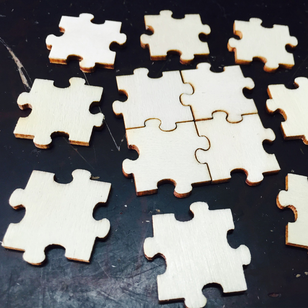50pcs bag wood puzzle pieces wedding guest book rustic and for Backyard party decoration crossword
