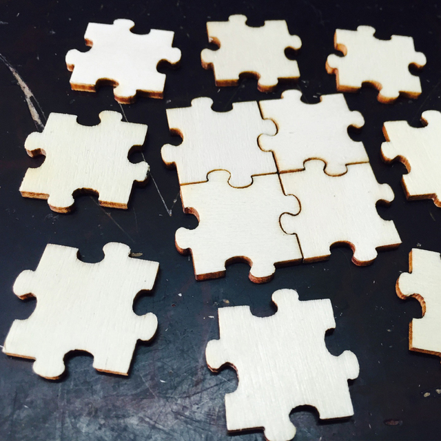 50pcs/bag Wood Puzzle Pieces Wedding Guest Book Rustic and Fun Ideas ...