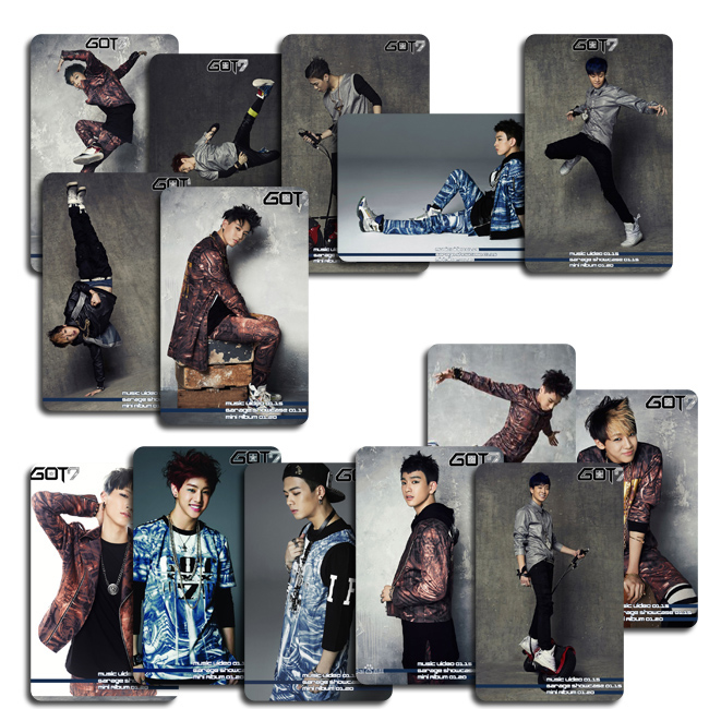 GOT7 1st mini album got it GOT7 2nd mini album GOT LOVE collection card photocards