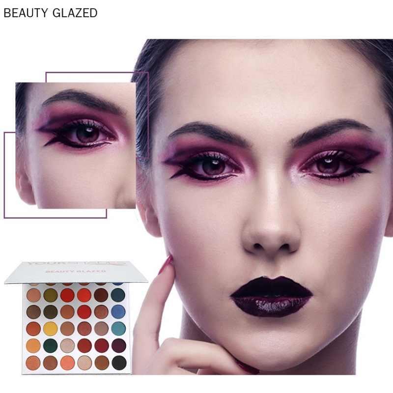 Kecantikan Mengkilap 36 Warna Eyeshadow Stabilo Shimmer Membuat Pigmen Eye Shadow Matte Glitter Tahan Lama Palet Kosmetik