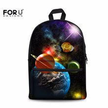 34c9ab14f97f FORUDESIGNS Starry Sky Printing Backpack Canvas Bagpack for Teenage Boy  Boys Girls Planet Knapsacks Student Bookbag