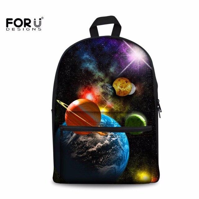 FORUDESIGNS Starry Sky Printing Backpack Canvas Bagpack for Teenage Boy  Boys Girls Planet Knapsacks Student Bookbag Preppy Style 59fe6b2f049b9