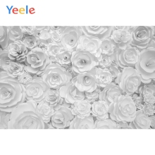 Yeele Solid White Paper Flowers Fashion Show Baby Photography Backgrounds Personalized Photographic Backdrops For Photo Studio