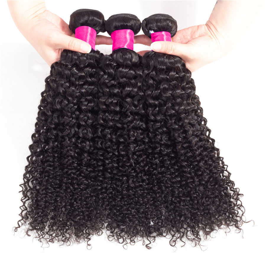 BY Hair 360 Frontal With Bundles Kinky Curly Brazilian Hair Wave Bundles Remy Human Hair Extension 360 Lace Frontal With Bundle