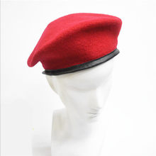 Vintage Unisex Men Women Military Wool Beret Soldier Army Hat Solid Apparel Accessories Hats&Caps Black Red Green Adjust Berets(China)