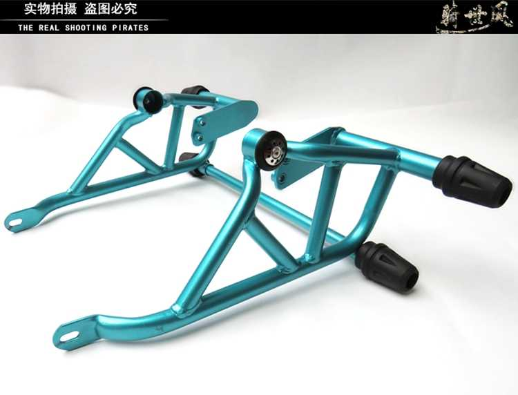 For CFMOTO 250cc 250NK Front Bumpers Blue Black Crash Bar Engine Guard  Frame Sliders Motorcycle Accessories for CFMOTO CF 250 NK
