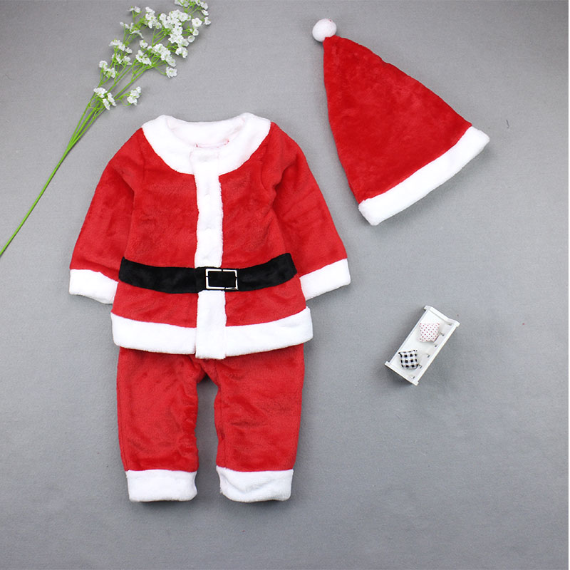 Children Christmas Costumes Boys Girls Santa Claus Costume Set inflatable cartoon customized advertising giant christmas inflatable santa claus for christmas outdoor decoration