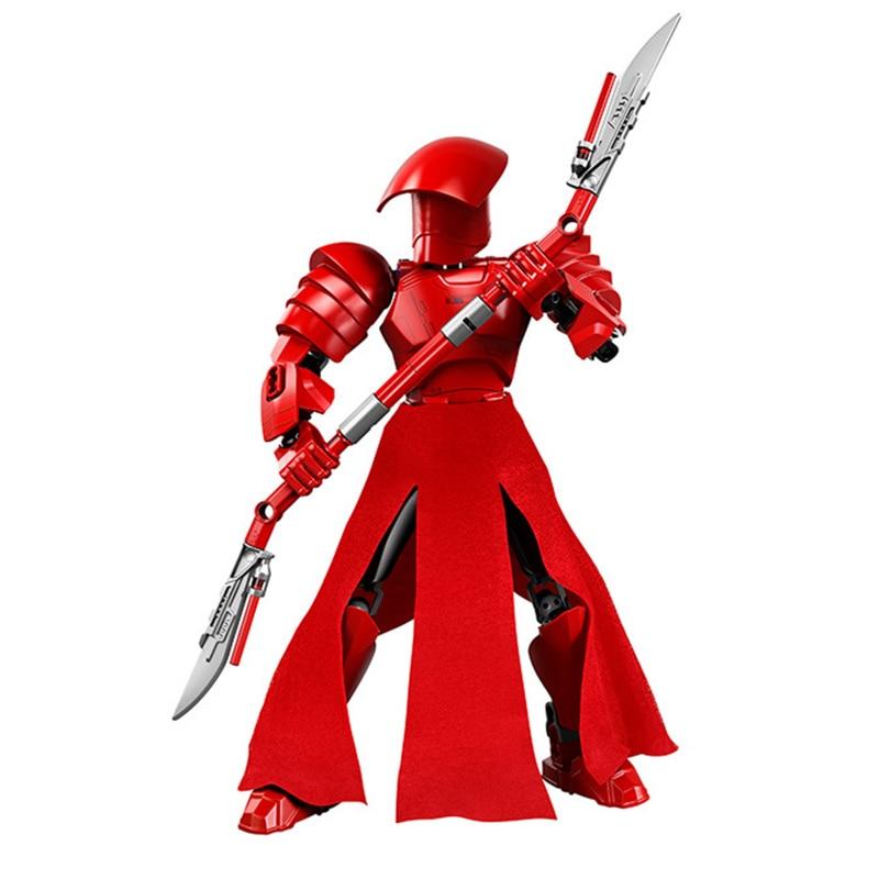 Звездные войны сборная фигура строительный блок Штурмовик Дарт Вейдер Kylo Ren Chewbacca Boba Jango Фетт фигурка игрушка для детей - Цвет: Praetorian Guard