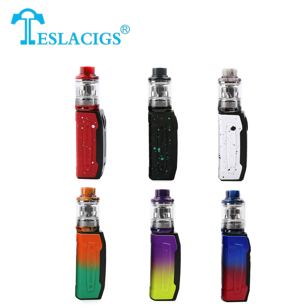 Original Tesla Falcons Starter Kit  2000mAh With 4ml/6ml Tesla Resin Tank & All-new TS-XX Plug-n-Pull Coil VS Tesla WYE Vape Kit