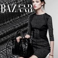 Jacquard thickening fashion brocade fabric black cloth 390grams per meter