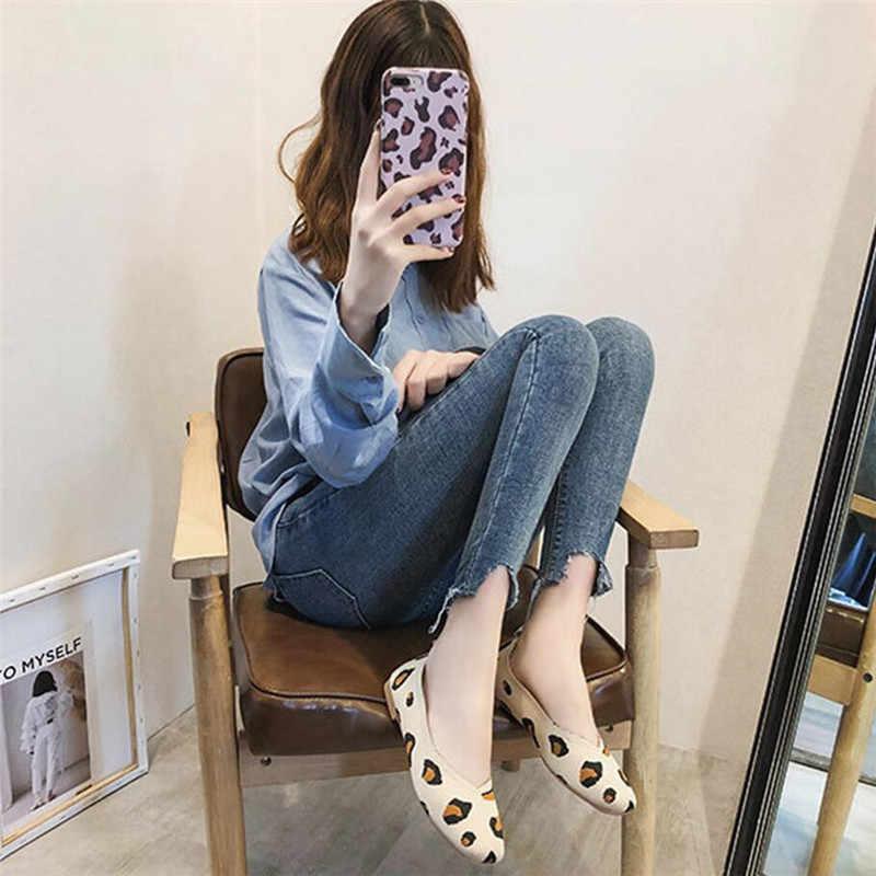 COOTELILI Platte Schoenen Toevallige Instappers Dames Oxfords Vrouwen Schoenen Flats Slip op Luipaard