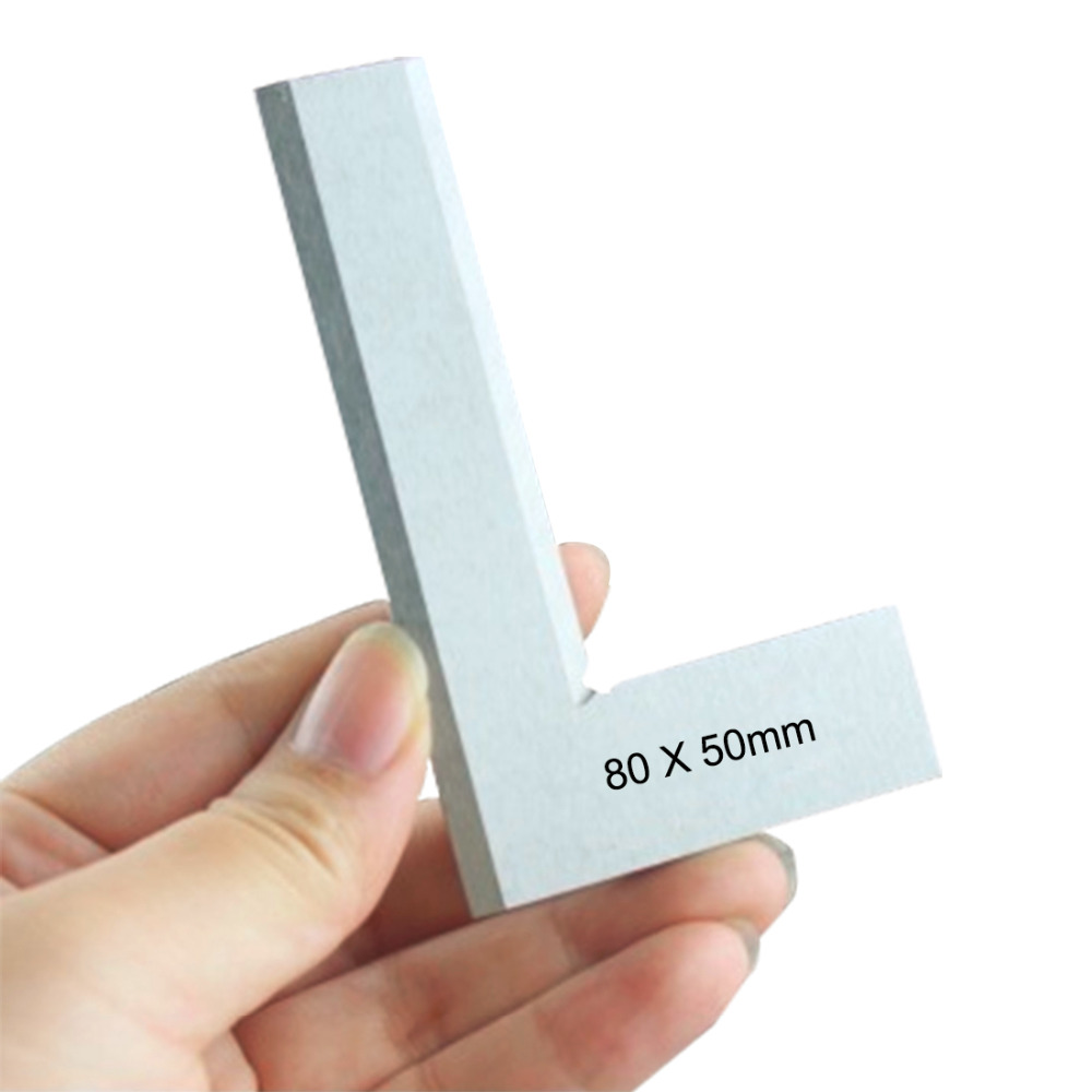 цена на 80*50mm Angle Square Broadside Knife-Shaped 90 Degree Angle Blade Ruler Gauge Blade Measuring Tool