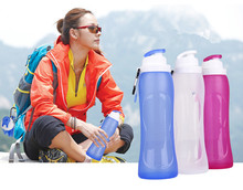500ML Creative Collapsible Foldable Silicone drink Sports Water Bottle Camping Travel my plastic bicycle bottle