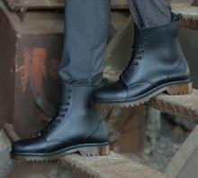 Солнечный Эверест Мужчины Водонепроницаемая Обувь На дождливую погоду на шнуровке Ботинки дождь сапоги мужские ботинки «мартенс» Нескользящие повара работы сад обуви 44