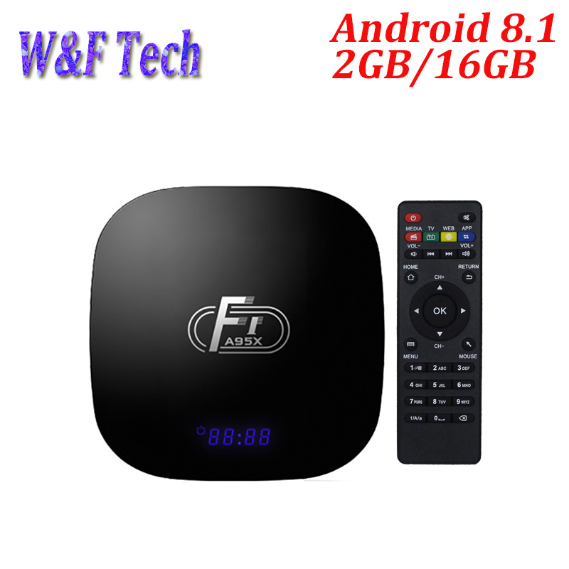 5PCS A95X F1 Smart Android TV Box Android 8.1 Amlogic S905W 4K 2GB 16GB 2.4GHz WiFi Media Player Box PK X96 MINI