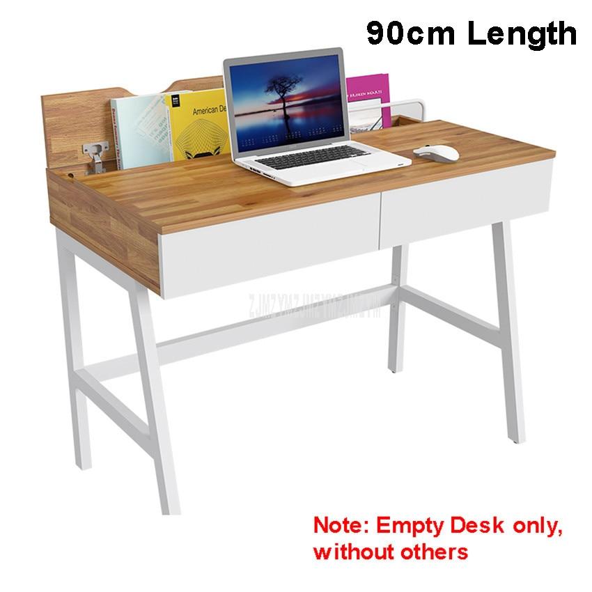 90cm Length Wood Desk Household Notebook Benchtop Computer Table Bedroom Bedside Student Desk Modern Table Lapdesk 12116#
