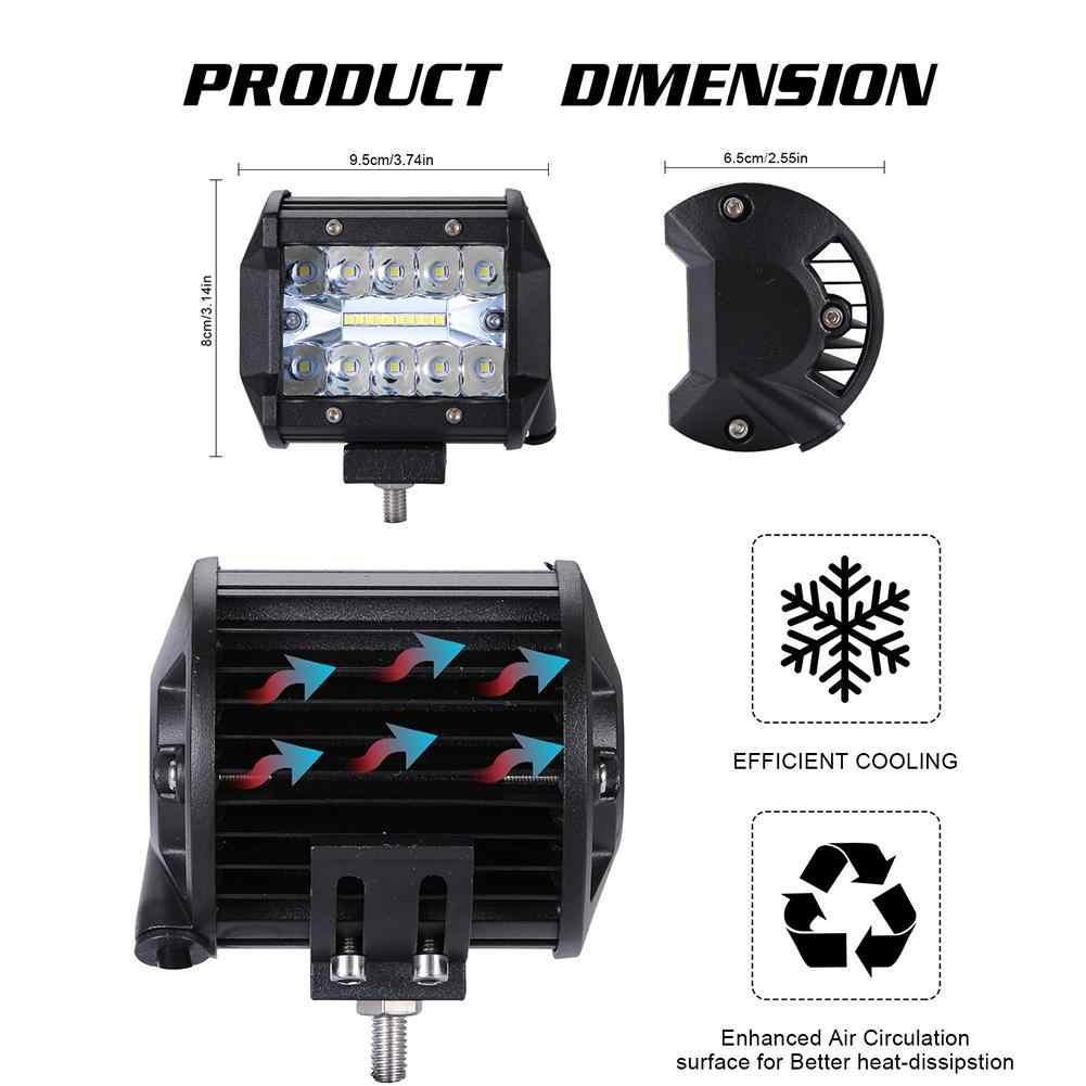 23cm 12//24v Barre Lumineuse Combo 54W LED CREE Feux de Travail Camion ATV SUV