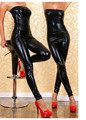 Womens Sexy Wet Look PVC Black Jumpsuit Patent leather Body Suit Fetish Gothic Catsuit Erotic Leotard Costumes