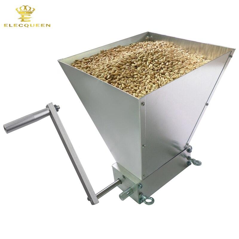 2018 новейшие нержавеющей 2 ролика ячменного солода мельница измельчитель зерна дробилки для доморощенного оптовая и дропшиппинг