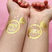 New 12pcs Bridesmaid Team Temporary Tattoo Sticker Party Decoration Marriage Bride To Be Bridal Wedding