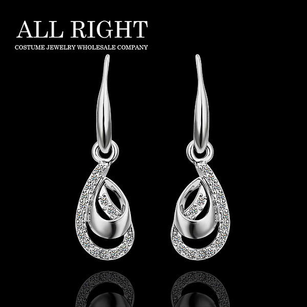 Roman Style Trendy 925 Silver Real Platinum Plated Gorgeous Unique Design Drop Earrings Brand Jewelry Pe416 In From Accessories On