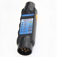 Dewtreetali New Arrival 7 Pin Car Truck Trailer Plug Socket Tester Wiring Circuit Light Test Tool