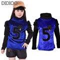 Девушки свитера для детей водолазка шерсть вязаные свитера зима сгущает топ для девочек одежда зима теплая костюмы 6-14years