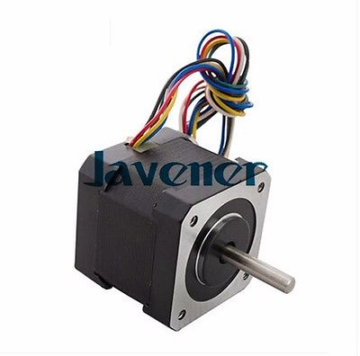 HSTM42 Stepping Motor DC Two-Phase Angle 0.9/1.68A/3V/4 Wires/Single Shaft jhstm57 stepping motor dc 2 phase angle 1 8 3 2v 4 wires single shaft ratio 10