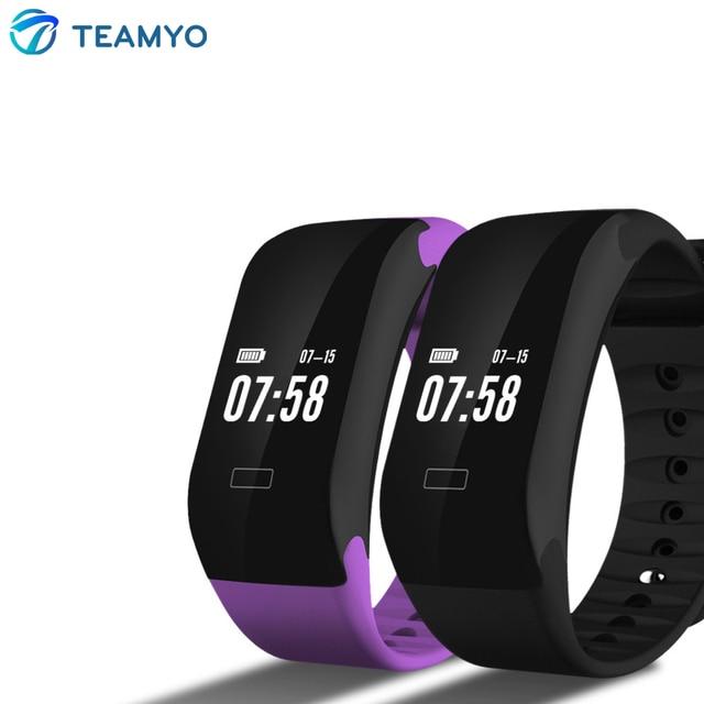 Teamyo E08 Bluetooth Smart Wristband Smart Bracelet Band With Blood Pressure Heart Rate Measurement