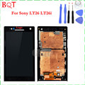 High Quality LT26 LCD For Sony Xperia S SL Lt26i Lt26ii LCD Display Touch Screen Digitizer with Frame Assembly